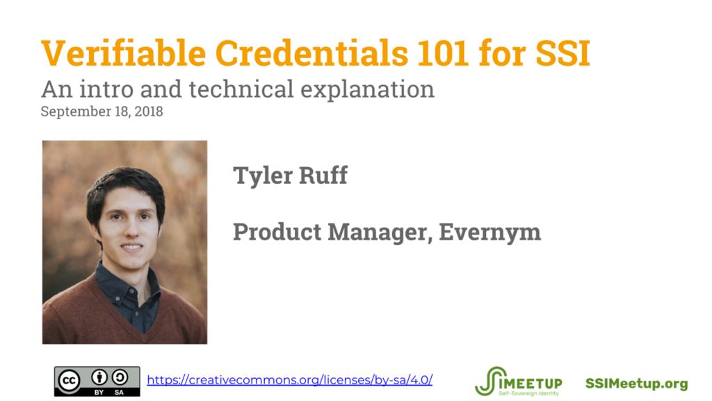 Webinar 11 Verifiable Credentials Tyler Ruff
